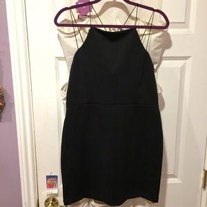 Black strappy minidress